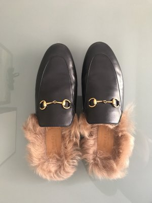 Gucci Mocassins noir-beige cuir