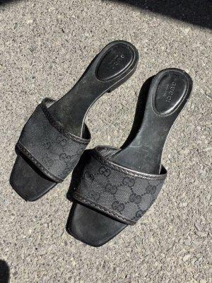 Gucci Slipper schwarz