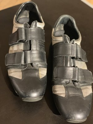 Gucci Velcro Sneakers black-silver-colored leather