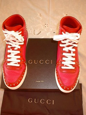 Gucci High top sneaker veelkleurig Leer
