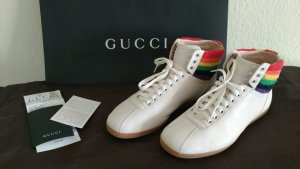 Gucci High top sneaker wolwit Leer