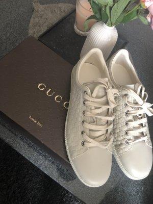 Gucci Lace-Up Sneaker beige-cream