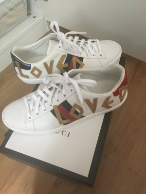 Gucci Lace-Up Sneaker white leather