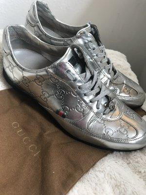 Gucci Sneakers metallic silber