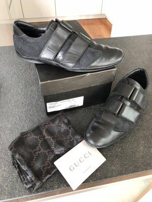 GUCCI Sneakers mit Klettverschluss in Schwarz / Gr. 38, passt eher 39