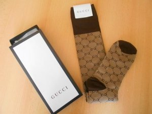 Gucci Legwarmers camel-dark brown cotton