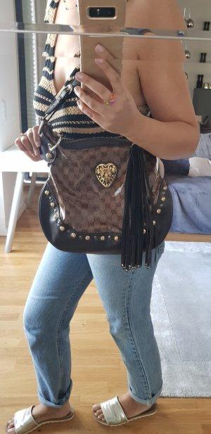 Gucci Soho bag original Tasche braun gold Shopper nieten