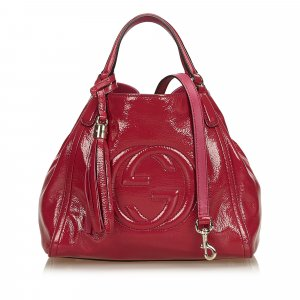 Gucci Soho Patent Leather Tote Bag