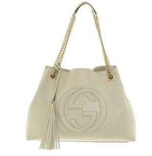 "Gucci ""Soho Tote Bag"" in Creme"