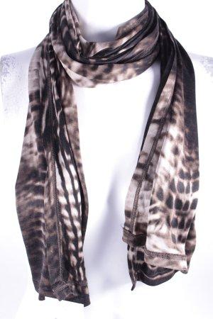 Gucci Sommerschal dunkelbraun-hellbeige abstraktes Muster extravaganter Stil