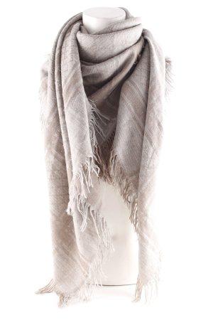 Gucci Sommerschal hellbraun-hellgrau Motivdruck Casual-Look