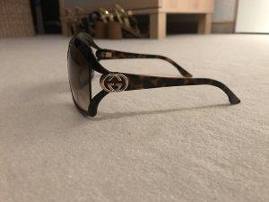 Gucci Hoekige zonnebril bruin-cognac kunststof