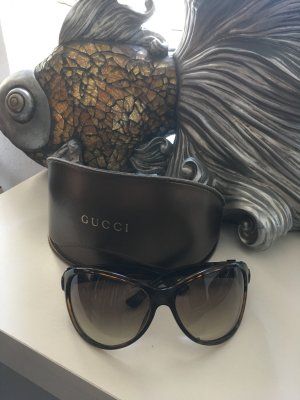 Gucci Bril donkerbruin-brons