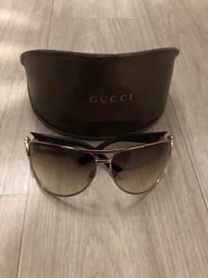 Gucci Ovale zonnebril lichtbruin