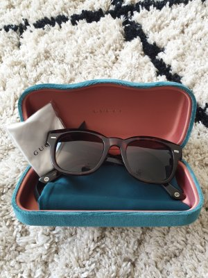 Gucci Angular Shaped Sunglasses brown acetate