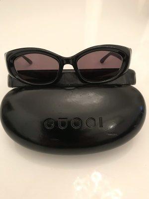 Gucci Occhiale da sole ovale nero