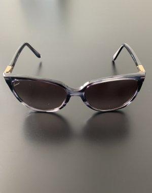Gucci Lunettes de soleil angulaires noir-gris anthracite