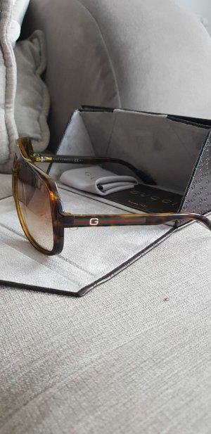 Gucci Lunettes de soleil brun-brun foncé