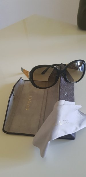 Gucci Round Sunglasses black-dark yellow