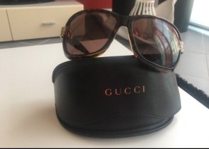 Gucci Glasses brown-gold-colored