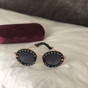 Gucci Occhiale da sole nero-bianco