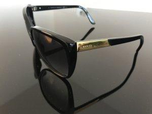 Gucci Hoekige zonnebril zwart kunststof