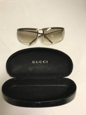 Gucci Sonnenbrille Brille braun ombré Silber