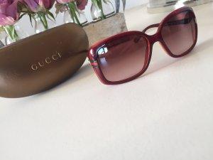 Gucci Gafas de sol cuadradas burdeos