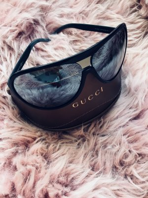 Gucci Aviator Glasses silver-colored-black
