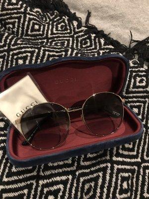 Gucci Ronde zonnebril goud