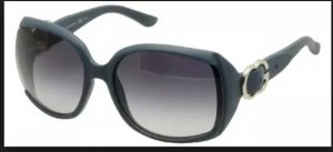 Gucci Angular Shaped Sunglasses blue-silver-colored