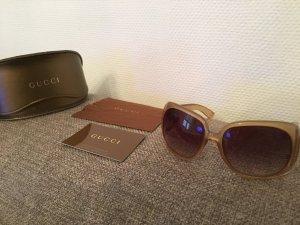 Gucci Sonnenbrille helles Braun mit Herzapplikation an der Seite