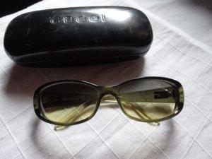 Gucci Sonnenbrille mit etui in grün