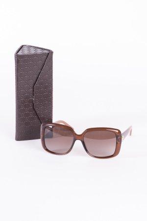 GUCCI - Sonnenbrille mit gemusterten Bügeln Braun