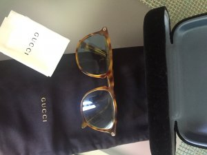 Gucci Glasses light brown-azure