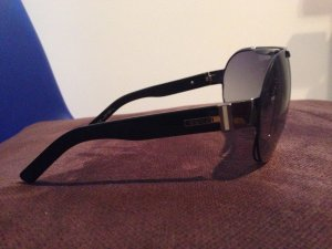 Gucci Oval Sunglasses black synthetic material