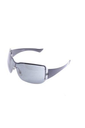 Gucci Sonnenbrille schwarz Monogram-Muster Street-Fashion-Look
