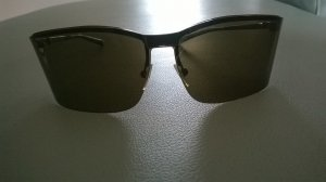 Gucci Oval Sunglasses black brown stainless steel