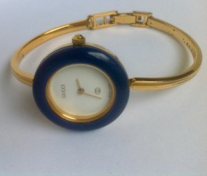 Gucci Watch Clasp gold-colored-blue