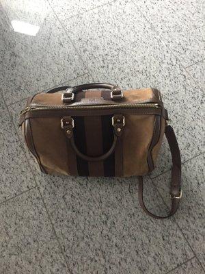Gucci Speedy( Bostontasche ) in Brauntönen Leder mit Stoffeinsatz
