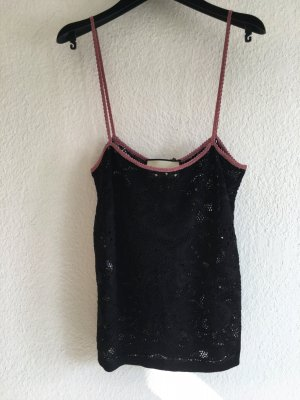 Gucci Lace Top black-pink mixture fibre