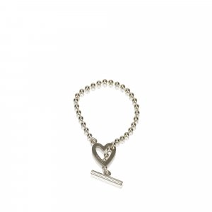 Gucci Sterling Silver Toggle Heart Bracelet
