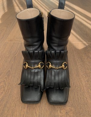 Gucci Buskins black-gold-colored