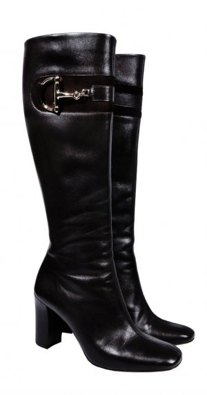Gucci Heel Boots black leather