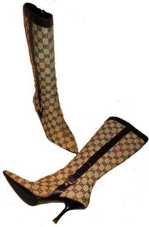 Gucci Bottes à talon brun-brun foncé cuir