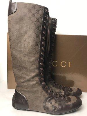 Gucci High Boots dark brown