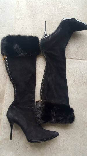 GUCCI,  Stiefel , High Heel,Gr.39 ,Leder in Wildleder Fell Fuchs