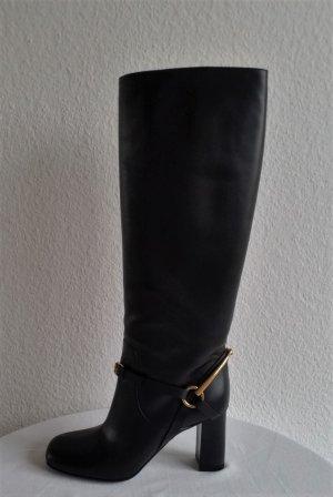 Gucci Botas con tacón negro Cuero