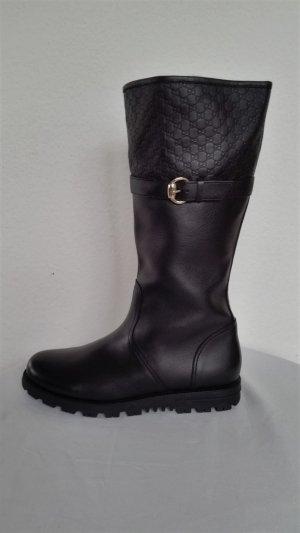 Gucci, Stiefel, Leder, schwarz, gefüttert, EU 41, neu, € 1.250,-