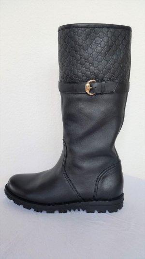 Gucci Biker Boots black leather